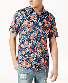 American Rag Men's Aloha Reverse Floral Print Shirt, Created for Macy's