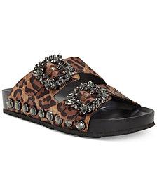 Jessica Simpson Gemelia Flatform Footbed Slide Sandals
