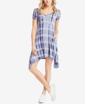 Karen Kane Hailey Tie-Dyed Handkerchief-Hem Dress 6131858