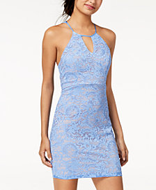 Sequin Hearts Juniors' Lace Racerback Dress