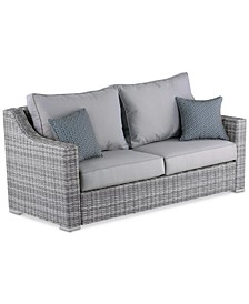 "Elle Decor Vallauris 73"" Outdoor Sofa, Quick Ship"