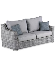 Elle Decor Vallauris Outdoor Sofa, Quick Ship