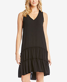 Karen Kane V-Neck Tiered Dress