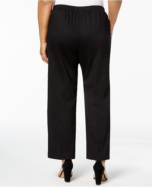 7819f7f476aac Alfred Dunner. Barcelona Plus Size Pull-On Straight-Leg Pants. 1 reviews.  main image  main image  main image ...