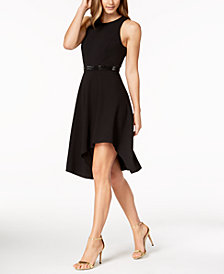 Calvin Klein Asymmetrical-Hem Fit & Flare Dress