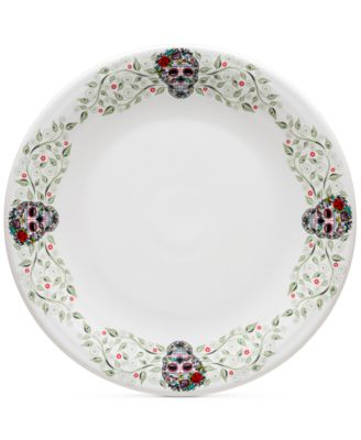 Skull and Vine Sugar Border Chop Plate