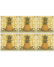 Pimpernel Set of 6 Golden Pineapple Coasters