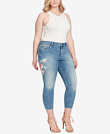 Jessica Simpson Trendy Plus Size Kiss Me Ankle Jeans