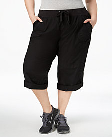 Calvin Klein Performance Plus Size Roll-Tab Cargo Pants