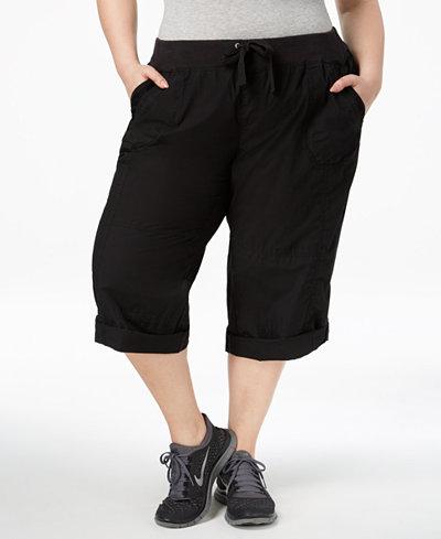 Calvin Klein Performance Plus Size Roll-Tab Cargo Pants