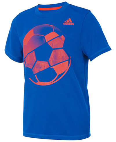 adidas Sports Ball-Print T-Shirt, Little Boys