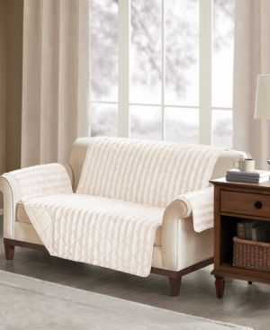 Madison Park Duke Reversible Diamond-Quilted Faux-Fur Loveseat Protector 6199068