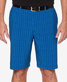 PGA Tour Men's Grid-Print Shorts