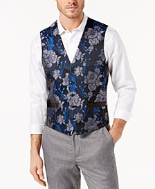 I.N.C. Men's Slim-Fit Brocade Vest, Created for Macy's