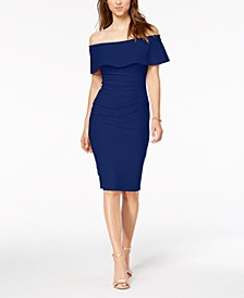 Off-The-Shoulder Sheath Petite Dress