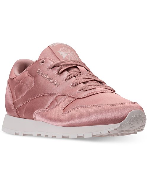 5d592d97d9b ... Reebok Women s Classic Leather Satin Casual Sneakers from Finish ...