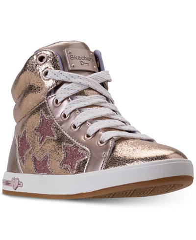 Skechers Big Girls' Shoutouts- Starry Shine High Top Casual Sneakers from Finish Line