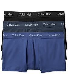 Calvin Klein Men's Cotton Stretch Low-Rise Trunks 3-Pack NU2664