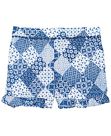 Epic Threads Ruffle-Trim Printed Shorts, Big Girls, Created for Macy's