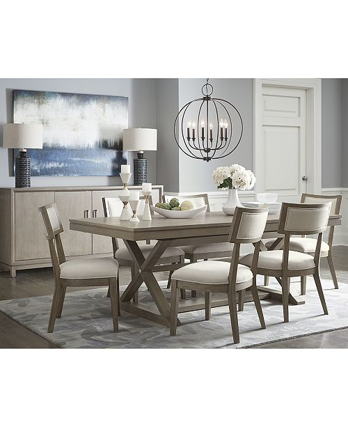 Furniture Rachael Ray Highline Expandable Dining Furniture 7 Pc