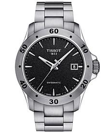 Men's Swiss Automatic T-Sport V8 Gray Stainless Steel Bracelet Watch 42.5mm