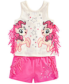 My Little Pony 2-Pc. Fringe-Trim Tank Top & Shorts Set, Toddler Girls
