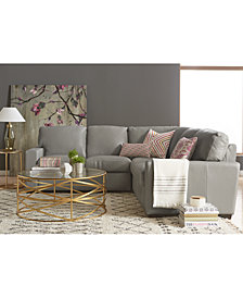 Ennia Leather Sectional And Sofa Collection, Created For Macy's