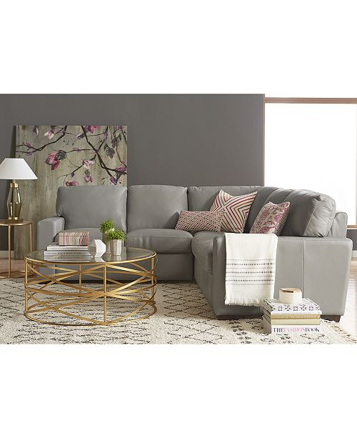 Ennia Leather Sectional And Sofa Collection, Created For Macy\'s