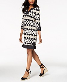 Printed Knit Shift Dress, Created for Macy's