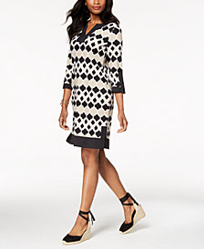 Charter Club Printed Shift Dress, Created for Macy's