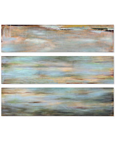 Uttermost Horizon View 3-Pc. Hand-Painted Panel Wall Art Set