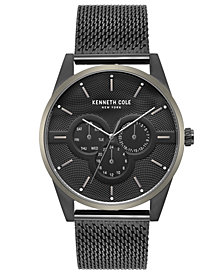 Kenneth Cole New York Men's Black Stainless Steel Mesh Bracelet Watch 42mm