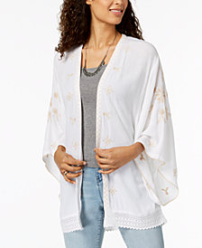 Style & Co Embroidered Kimono, Created for Macy's