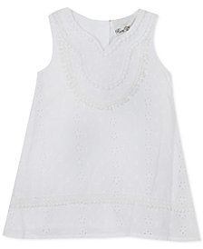 Rare Editions Baby Girls Eyelet Cotton Shift Dress