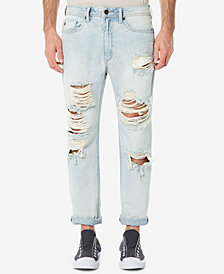 Buffalo David Bitton Men's Heavy Destructed Gunner Slouch Tapered Jeans