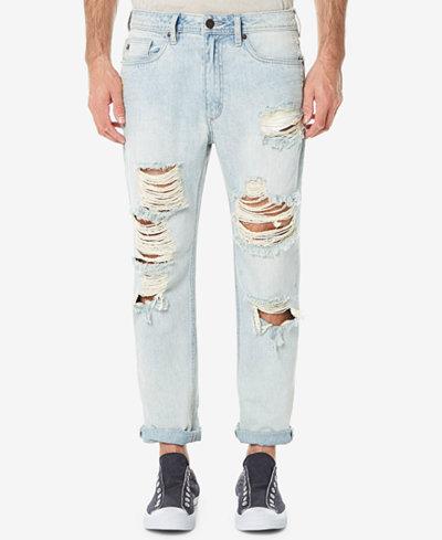 Buffalo David Bitton Men's Heavy Destructed Gunner Relaxed-Fit Jeans