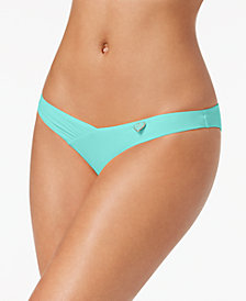 Body Glove Juniors' Coco Brief Shirred Cheeky Bikini Bottoms