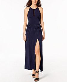 MICHAEL Michael Kors Petite Keyhole Slit-Hem Maxi Dress