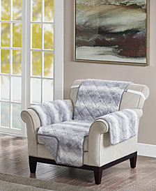 Madison Park Zuri Reversible Tip-Dyed Faux-Fur Chair Protector