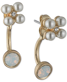 lonna & lilly Stone & Imitation Pearl Jacket Earrings