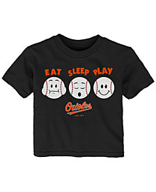 Outerstuff Baltimore Orioles Eat, Sleep, Play T-Shirt, Infant Boys (12-24 Months)