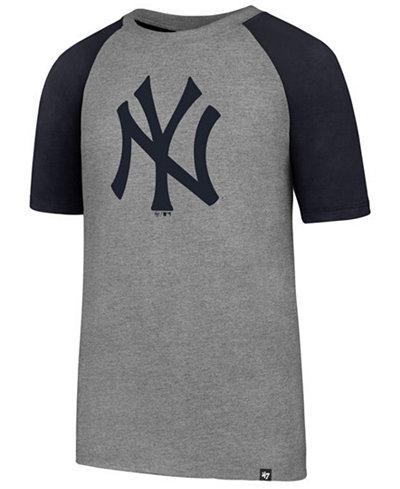 '47 Brand New York Yankees Super Rival Raglan T-Shirt, Big Boys (8-20)