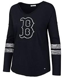 Women's Boston Red Sox Court Side Long Sleeve T-Shirt