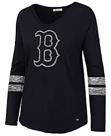 '47 Brand Women's Boston Red Sox Court Side Long Sleeve T-Shirt
