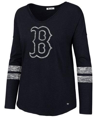 '47 Brand Women's Boston Red Sox Court Side Long Sleeve T-Shirt