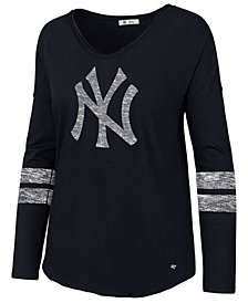 '47 Brand Women's New York Yankees Court Side Long Sleeve T-Shirt
