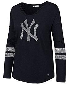 '47 Brand Women's New York Yankees Court Side Long Sleeve T-Shirt