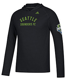 adidas Men's Seattle Sounders FC Squared Ring Hooded T-Shirt
