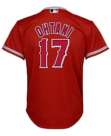 Majestic Shohei Ohtani Los Angeles Angels Player Replica Cool Base Jersey, Big Boys (8-20)