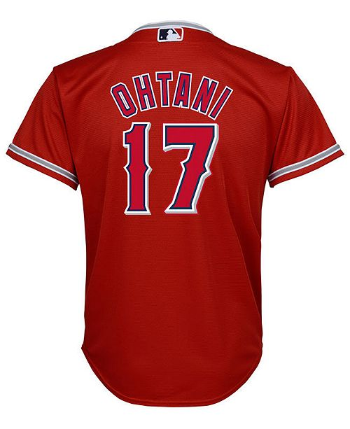 d1d5cb634 ... Majestic Shohei Ohtani Los Angeles Angels Player Replica Cool Base  Jersey
